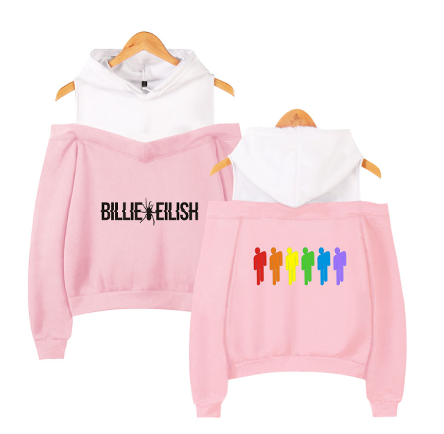 BILLIE EILISH OFF SHOULDER HOODIE (4 VARIAN)
