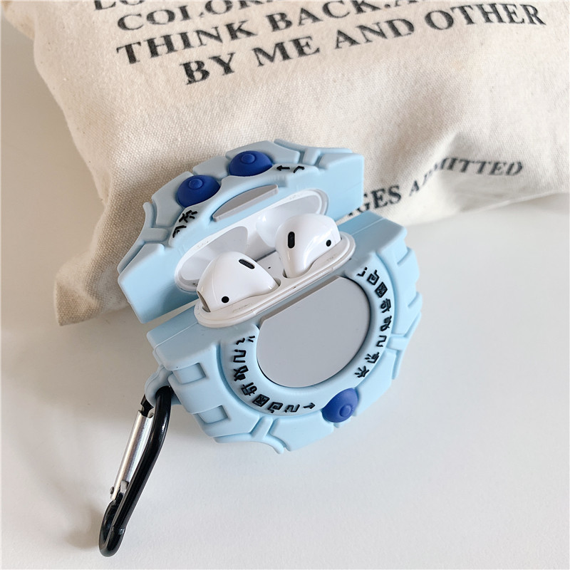 Image 3 - For AirPods Apple Case 3D Cartoon Digimon Adventure Digivice Headphone Case For Airpods 1 2 Silicone Case Protector Cover Coque-in Earphone Accessories from Consumer Electronics