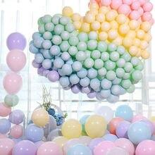 100 шт 10 дюймов конфеты Цвета Макарон шарики для День Рождения