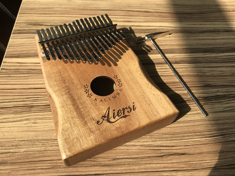 Aiersi 17 Keys Kalimba Solid Koa Body Thumb Piano Musical Instrument Professional Calimba With Full Set