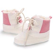 Зимние детские мягкие теплые ботинки для девочек 0-12 месяцев; ботинки для малышей