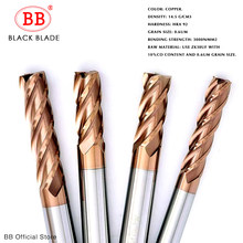 BB cnc Carbide End Mills Tungsten Machine Milling Cutter Tools 2 4 Flute Metal Key Seat Face Router Bit 6 8 12mm Shank HRC55 65(China)