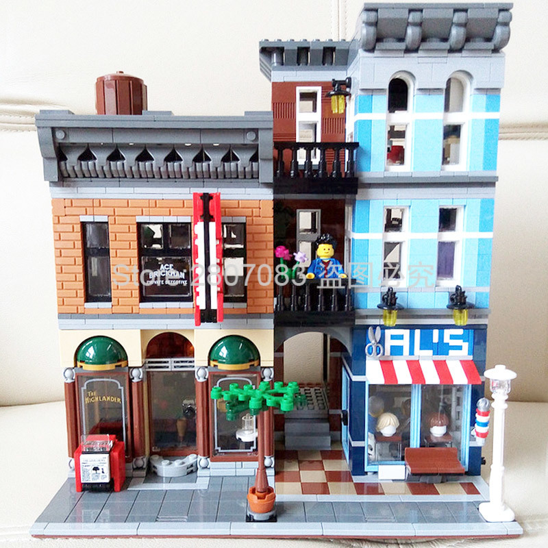 15011 Creator Series Stree View The Detective's Office Set Detective Agency assembly Building Blocks 2262pcs Bricks Toys 10246 image
