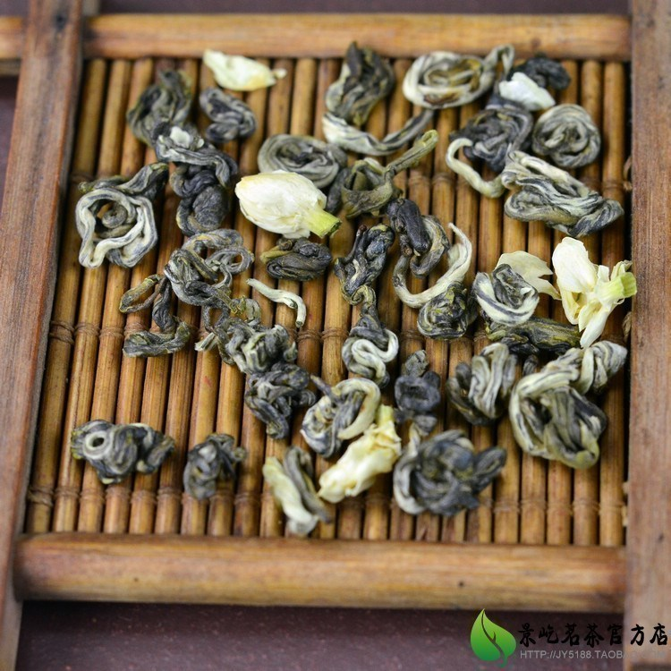 China High Mountains Baihao Jasmine Flower Biuochun tea Chinese Moutain Bai Hao Bi Luo Chun Jasmine Flower Green tea 1