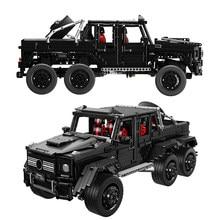 3300 adet G63 6x6 LAND CRUISER Off Road aracı Model setleri MOC SUV araba yapı taşları tuğla DIY oyuncaklar hediyeler çocuklar için