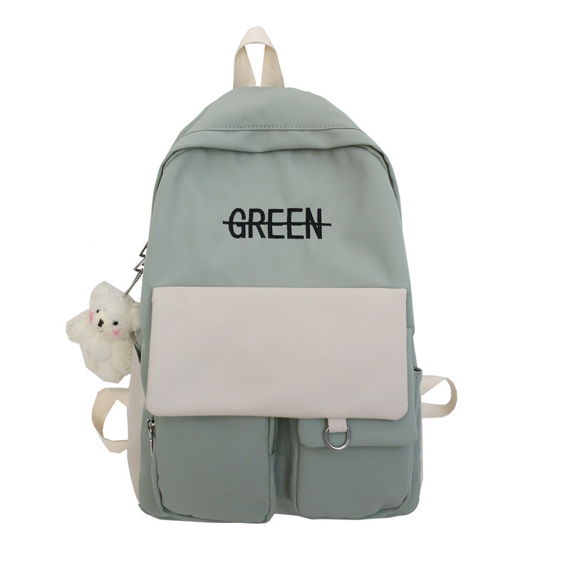 Schoolbag Female High School Junior High School Student Middle School Girl Female Contrast Color Forest Bag Backpack