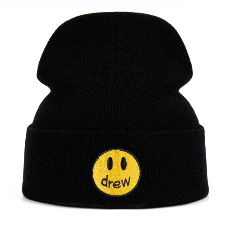 Drew Justin Bieber Cotton Casual Beanies For Men Women Knitted Winter Hat Solid Color Hip-hop Skullies Hat Unisex DREW House