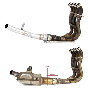 Image 4 - For Suzuki GSX S 1000 GSX S 1000F 2015 2019 Stainless Steel Decat Race Eliminator Exhaust Link Pipe GSXS GSXS1000 GSX S1000F