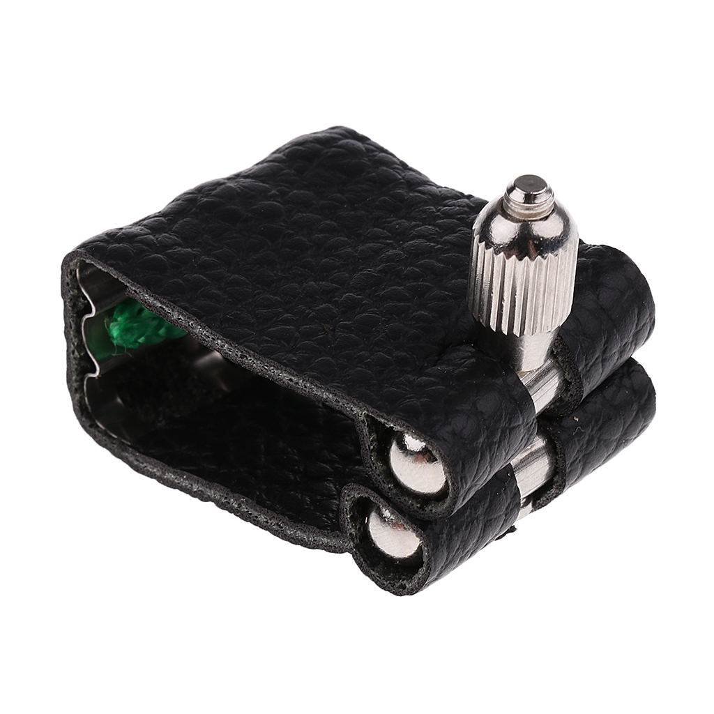 PU Leather Alto Eb Saxophone Ligature For Saxophone Sax Mouthpiece Parts