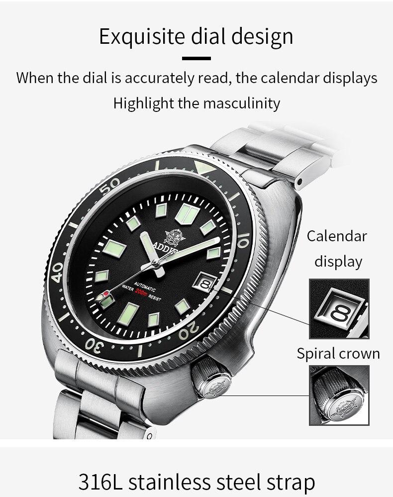 H8c7433d0e9d044ed9f90836a8ad8b2bff 1970 Abalone 200m Diver Watch Sapphire crystal calendar NH35 Automatic Mechanical Steel diving Men's watch
