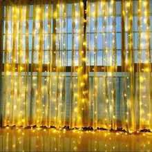 Weihnachten LED lichterkette garland vorhang string lichter fernbedienung enthalten Hause dekoration schlafzimmer fenster Urlaub beleuchtung