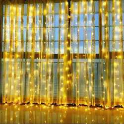 Christmas LED fairy lights garland curtain string lights Remote control included Home decoration bedroom window Holiday lighting