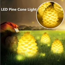 Hot Sale S/M/L Warm White  Table Lamp Ornaments Electric Candle Pine Cone Flameless Night Light Home Decor Christmas Present