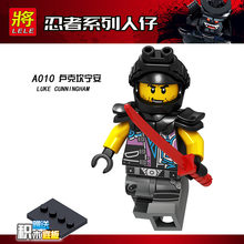 Trump A009-016 Ninja Series Doll Toy Snake JAGUAR Garmadon Toy Bag Educational Assembled Building Blocks(China)