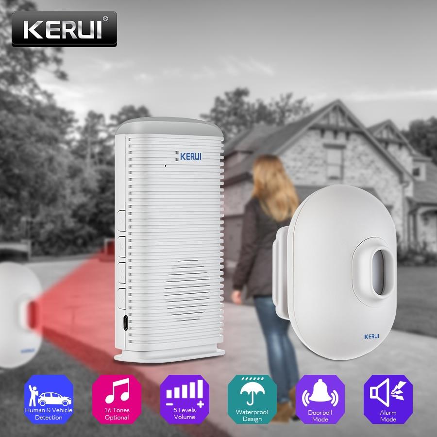 KERUI DW9 wodoodporny czujnik ruchu PIR podjazd Alarm garaż witamy System antywłamaniowy LED bezprzewodowy podjazd Alarm bezpieczeństwa