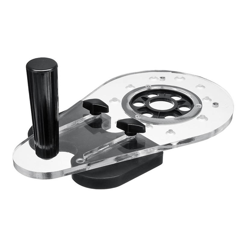 Universal Router Base Power Router Accessories Woodworking Drill Punch Locator Wood Slot Locator