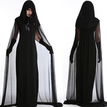 Womens Black Witch Costume for Halloween Adult Cosplay