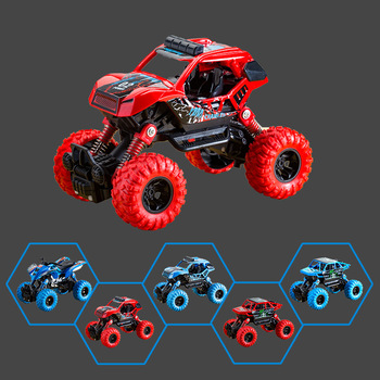 The new inertia off-road vehicle four-wheel drive plastic toy car back to the stunt car to send the best gift for children j084b diy small four wheel drive car interesting diy making for adults and children sell at a loss