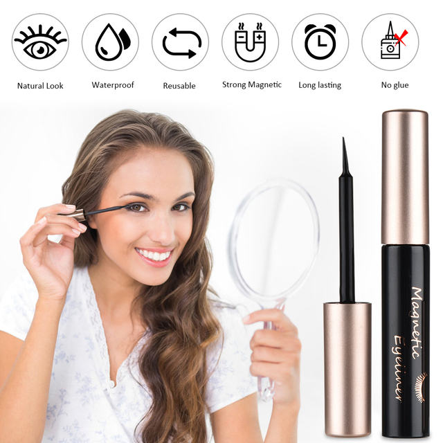 5 Pair Magnetic Eyelashes With Magnet Liquid Eyeliner Tweezer Set Waterproof Long Lasting Natural Mink False Eyelashes Extension 1