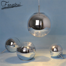 Nordic LED galwanizacja Ball oświetlenie oprawa oświetleniowa sypialnia prosty wisiorek lampa Loft wisiorek światła Home Decor wiszące lampy