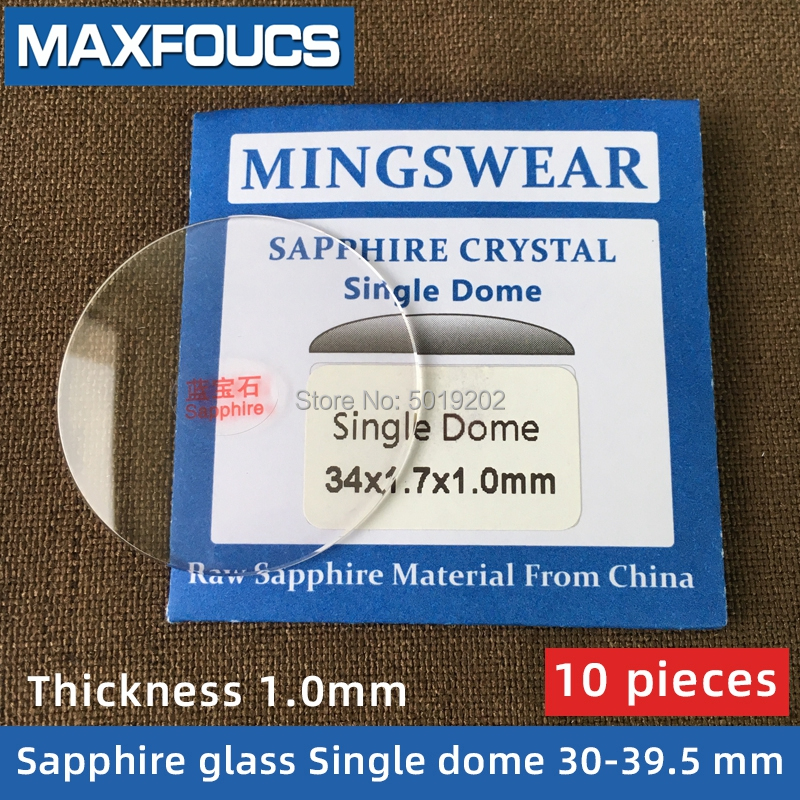 Watch Glass Thick 1.0 mm Diameter  30 39.5 mm  Single  dome  Sapphire Anti scratch Smooth Round Transparent Crystal ,10 pieces S|Repair Tools & Kits| |  - title=
