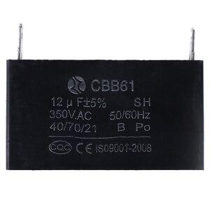 Image 4 - CBB61 12uF 50/60Hz Generatore di Motore Del Ventilatore 350VAC Condensatori Nero 12uF Generatore Condensatore Generatore