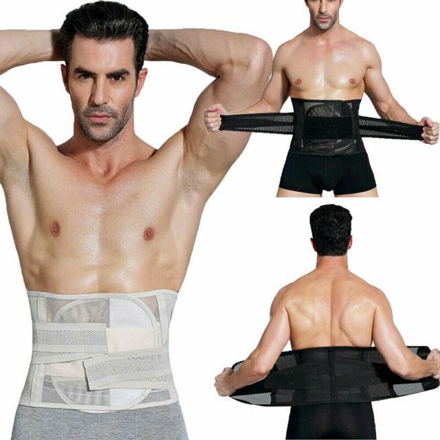 Meihuida Men Slimming Abdomen Fat Burn Tummy Body Shaper Sweat Belt Cincher Wraps Corset Gym Sport Shapewear Model Tape