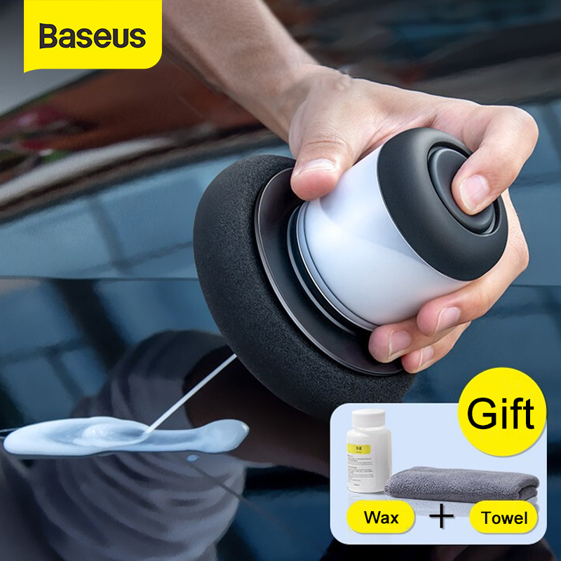 Baseus Car Polishing Machine Tools With 100ml Car Waxing For Auto Brightening Repairs Scratches Manual Car Polisher Accessories