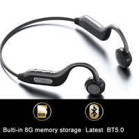 Ggmm Originale Bluetooth 5.0 Cuffie Ultima Conduzione Ossea Auricolare Built-in 8G Scheda di Memoria IPX67 Hd Il Mic Auricolari Sportivi Nuovo