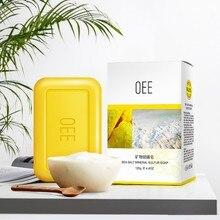 Серное мыло контроль масла анти-клещи анти-акне для очистки пор Осветление кожи цвет лица мыло для тела