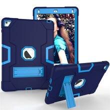Оригинальный противоударный чехол для нового iPad 9,7 дюйма 2018 дюйма 2017 дюйма, Детская броня, сверхпрочный силиконовый Жесткий защитный чехол ...