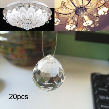 20 sztuk wyczyść Crystal Ball lampa wisząca lampa Suncatcher pryzmat kulki spadek pryzmaty ślubne dekoracje na domowe przyjęcie 20mm tanie i dobre opinie CN (pochodzenie) 23mm Kryształowy żyrandol HG20097A1 20pc Crystal Ball