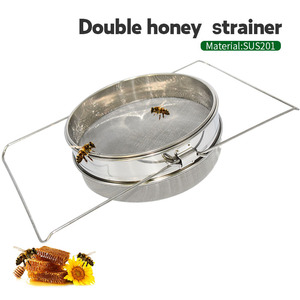 Hot Sale Stainless Steel Honey Filters Strainer Network Stainless Steel Screen Mesh Filter Beekeeping Tools Honey Tools(China)
