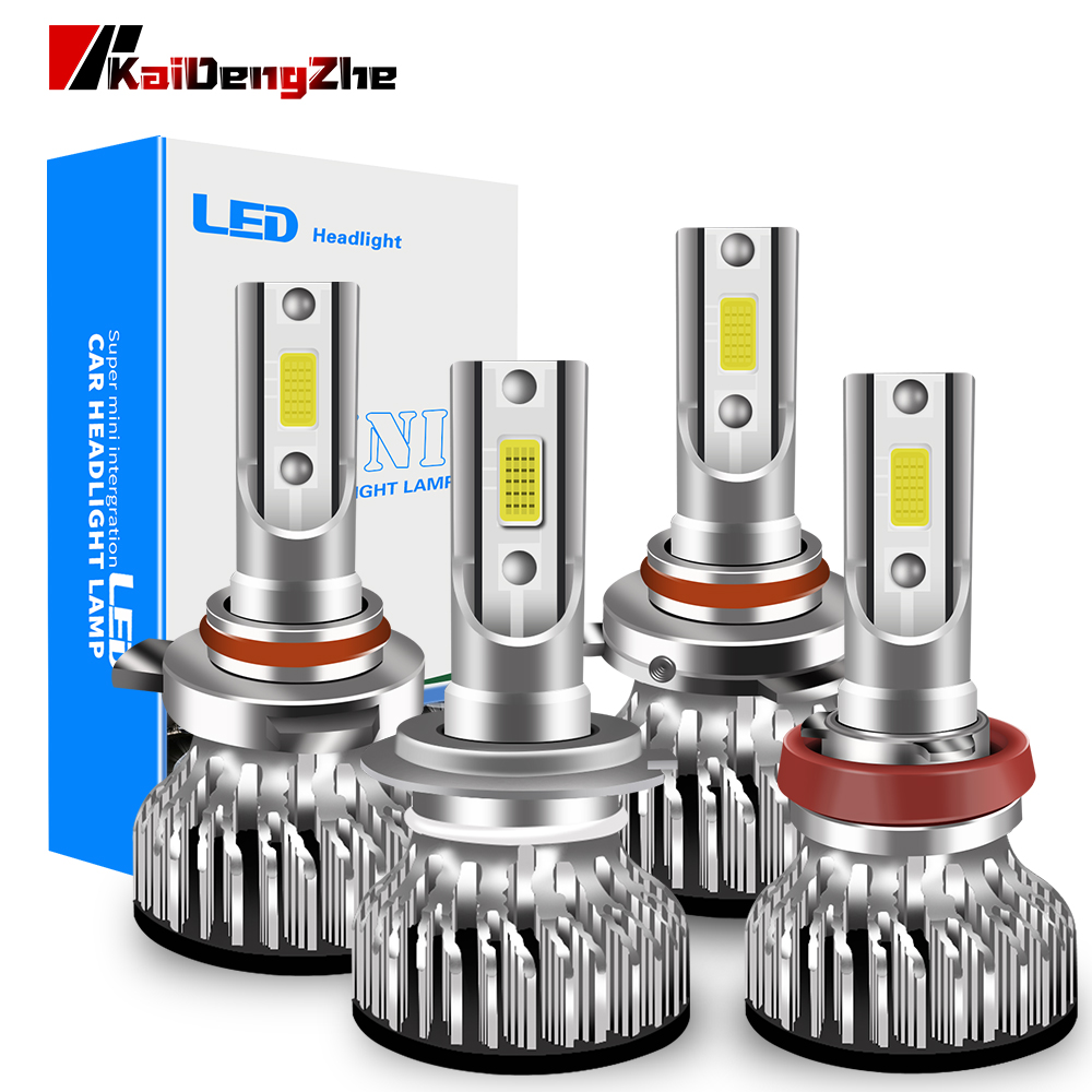2Pcs Canbus 9005 hb3 <font><b>Led</b></font> Headlight Bulb H1 <font><b>H3</b></font> H4 H7 H8 H9 H11 HB4 HIR2 9012 Auto Fog Light 12-24V High Low Beam 6000K Headlamp image