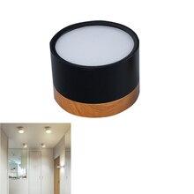 LED sıva üstü Downlight yüksek parlak Epistar kısılabilir 15W 5W 7W 9W 12W yuvarlak tavan spot lamba AC 220V