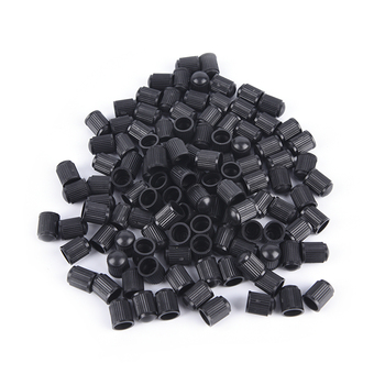100pcs/lot Black Plastic Dust Valve Caps Bike Car Wheel Tyre Air Valve Stem Caps Wholesale image