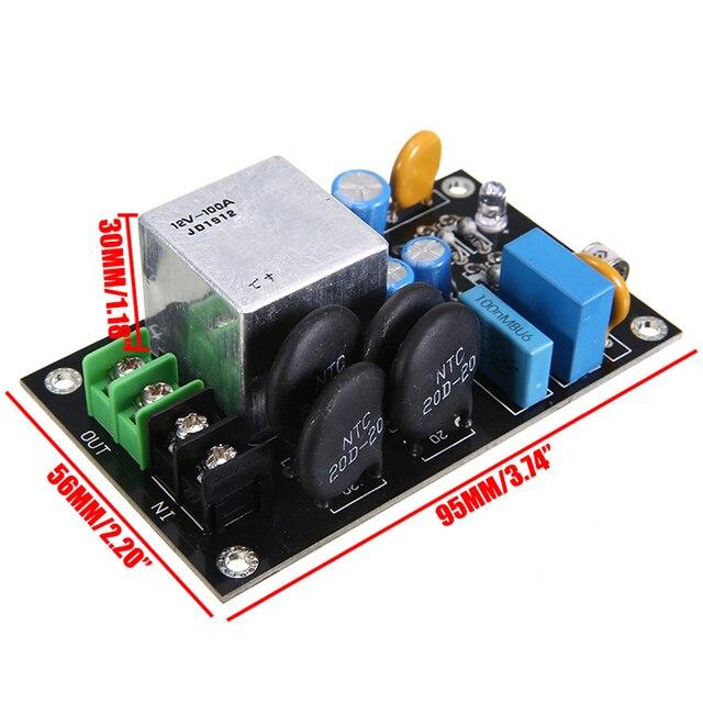 1pc 소프트 스타트 보호 보드 고전력 소프트 스타트 전원 회로 보드 릴레이 천둥 보호 모듈 220V-275V 100A