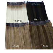 Toysww Straight Halo Hair Extensions Fish Line Virgin Human Hair Extension Invisible Hidden Wire Hair Extensions