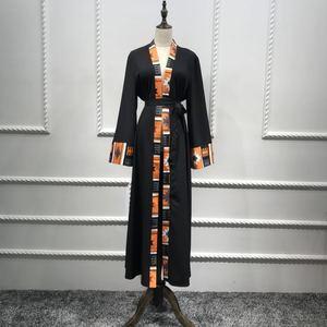 Image 4 - דובאי קפטן מוסלמית בגדים אסלאמיים העבאיה שמלת נשים שרוכים קפטן ארוך גלימת חיג אב שמלת גדול נדנדה גלימת קפטן קימונו Jubah
