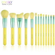Docolor 13PCS Makeup Brushes Powder Foundation Eye Shadow Blending Blush Brush Beauty Cosmetic Neon Make Up Brush Maquiagem