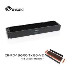 BYKSKI 480mm Copper Radiator for PC Cooling 60mm Thickness for 12cm Fan Water Cooler