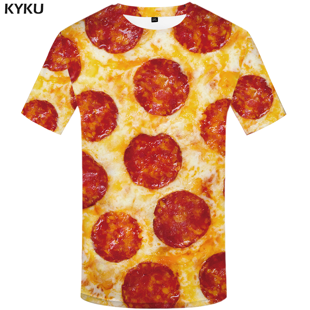 KYKU Brand Pizza <font><b>T</b></font> <font><b>Shirt</b></font> <font><b>Men</b></font> <font><b>3d</b></font> <font><b>T</b></font>-<font><b>shirt</b></font> Food Graffiti printed Tshirt <font><b>Shirt</b></font> Funny <font><b>T</b></font> <font><b>Shirts</b></font> Fit <font><b>Sexy</b></font> <font><b>Mens</b></font> Clothing Casual Top 2019 image