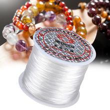 60 м/рулон Эластичный бисер нить для изготовления ювелирных изделий, поделки из бисера шнуры браслет на запястье для ожерелья для ножного бр...