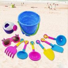 9 pièces enfants plage sable jouet ensemble plage seau arrosoir pelle râteau moule plage jouets Kit été eau jouer bac à sable outil jouets
