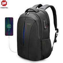Tigernu USB טעינה גברים 15.6 אינץ מחשב נייד תרמילי תלמיד ילקוט Waterproof בני באיכות זכר תרמיל המוצ ילה תיק