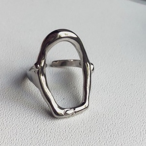 Image 3 - F.J4Z 100% S925 sterling silver new arrival metal style  fashion women hollow irregular shape finger rings for party wedding