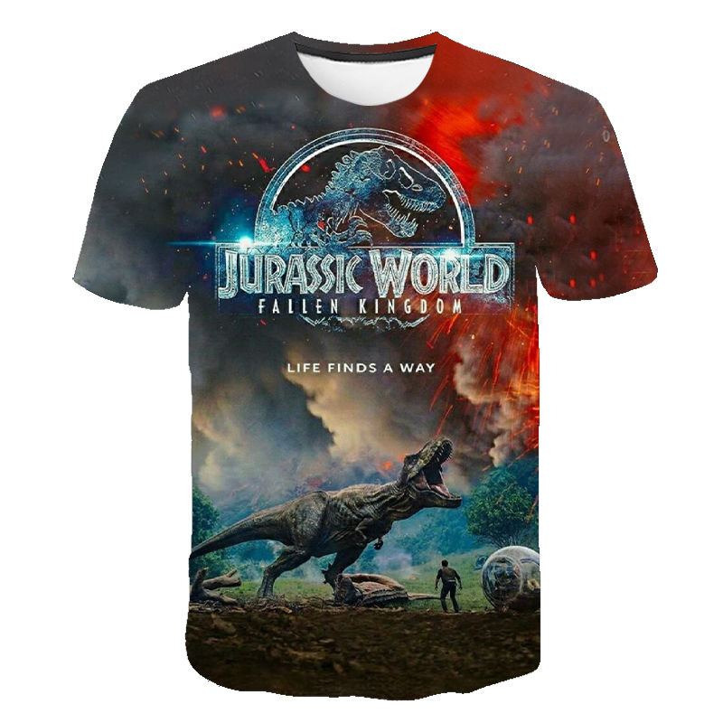 2020 New Jurassic Park T Shirt Men Women 3D Printed T-shirt Casual Funny Tops Jurassic World Tees Children Boy Girl Cool Tshirt