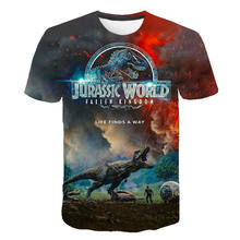 2020 New Jurassic Park T Shirt Men Women 3D Printed T-shirt Casual Funny Tops Jurassic World Tees Children Boy Girl Cool tshirt(China)