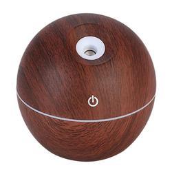 Led kolorowe Usb inteligentny indukcyjny nawilżacz ziarna drewna ultradźwiękowy aromatyczny olejek eteryczny dyfuzor do domu biurowego