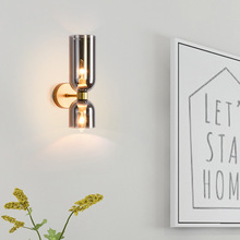 Modern Home LED Indoor Wall Lamp Up Down Glass Sconces Bed Side Wall Light for Kicthen Living Room Stair Hallway Lighting k9 crystal led wall lamp home sconces hotel bed room light free shipping